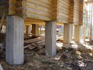 Столбчатые фундаменты под сруб бани
