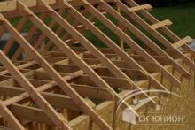 Стропильная система каркасного деревянного дома